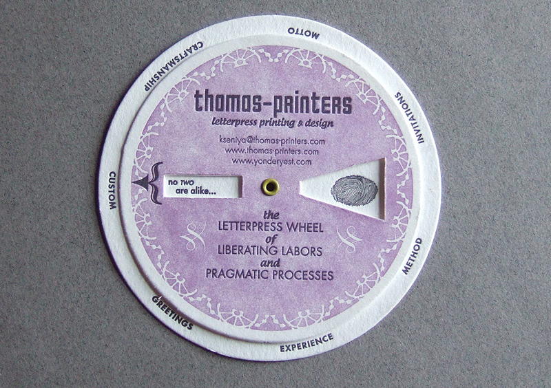 The Thomas-Printers Letterpress Wheel