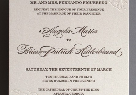 Angela + Patrick Wedding Invitation