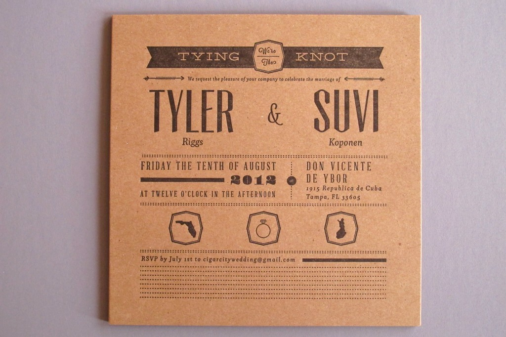 Tyler + Suvi Wedding Invitation