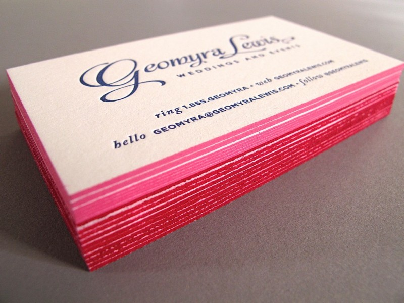 edge painting business cards