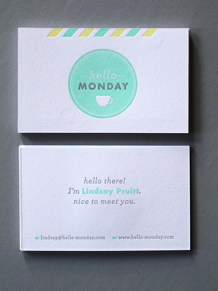 Hello Monday Buisness Card