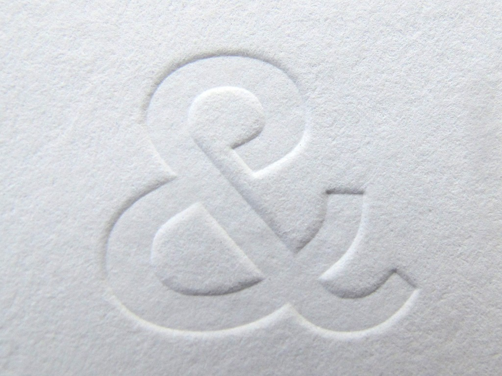 Partners Harrisoin Letterpress Buisness Card