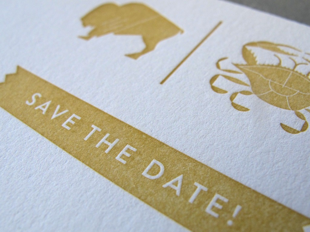 Gold Ink Two Ways Save The Dates Thomas Printers