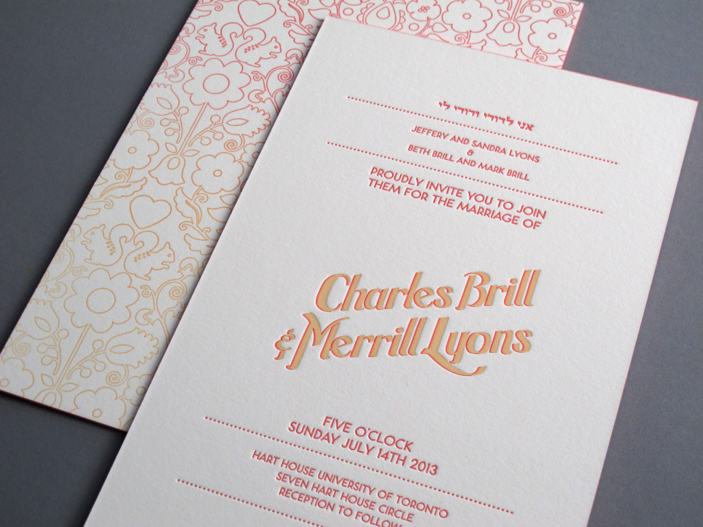 Charles + Merrill Wedding Invitations