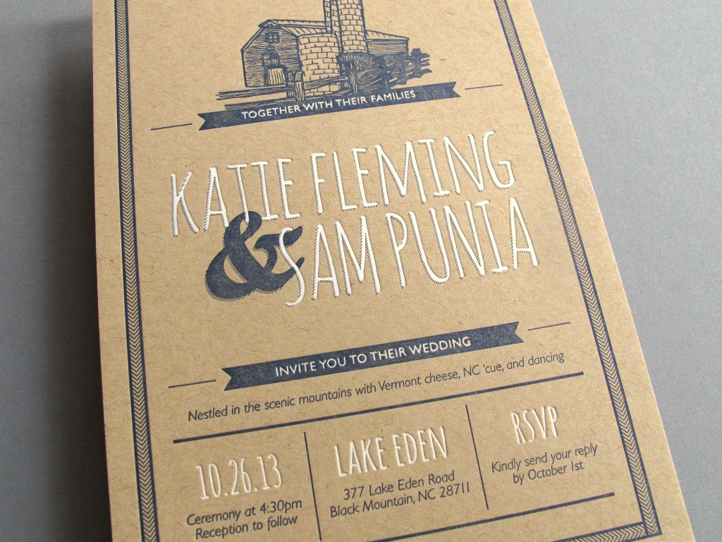 Katie + Sam Wedding Invitation