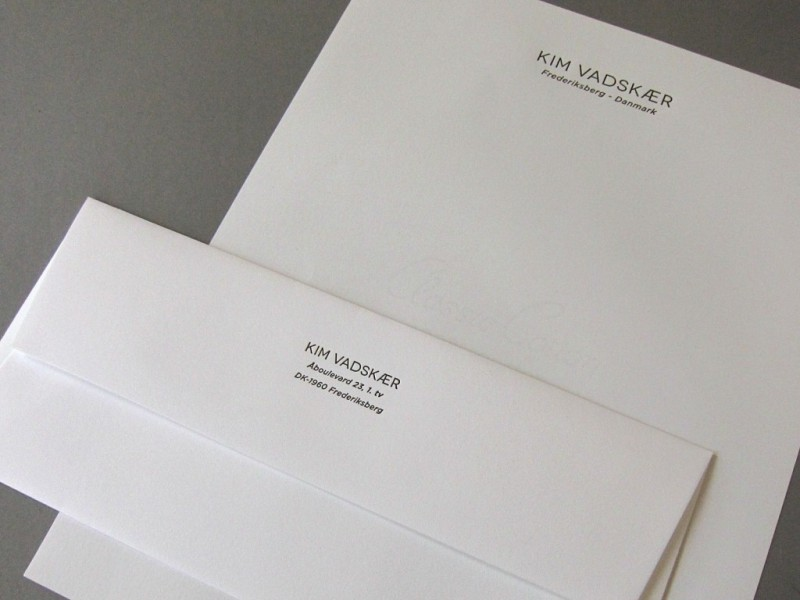 Kim Vadskaer Buisness Stationery