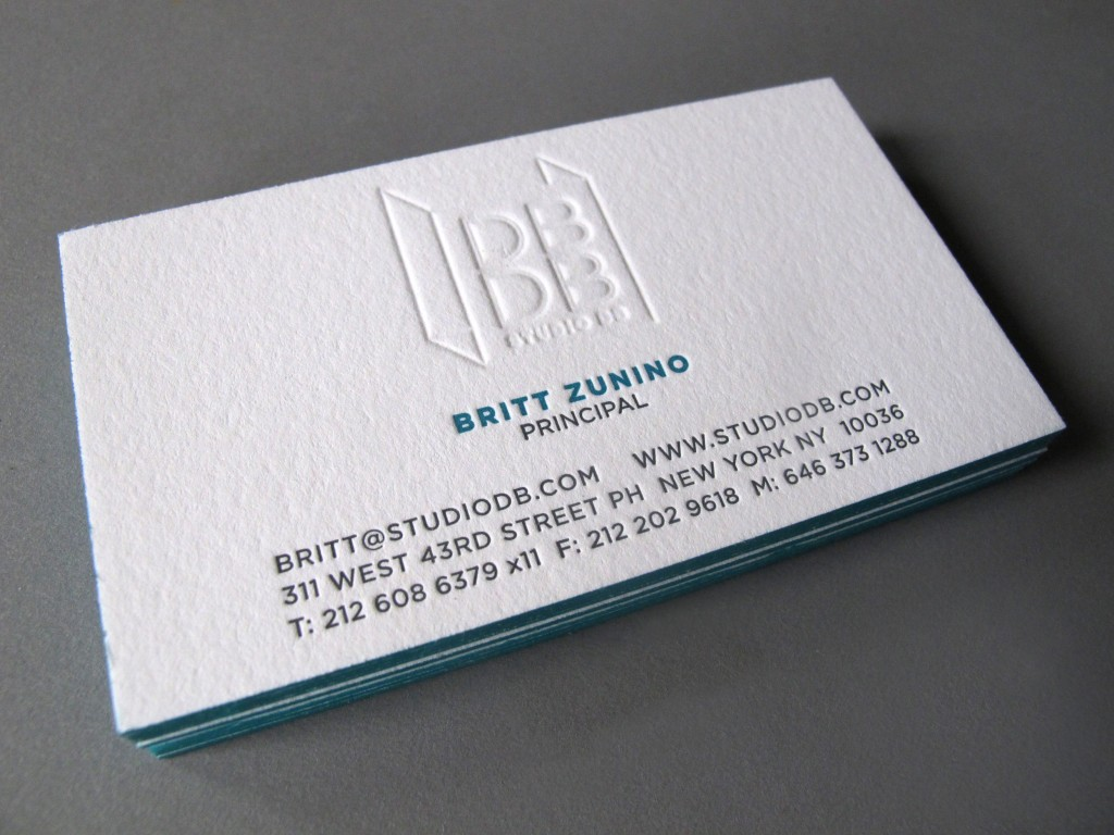 Studio DB Business Card Thomas Printers