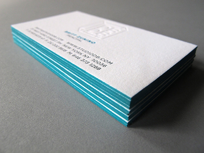 Studio db business card thomas printers for Business card colors