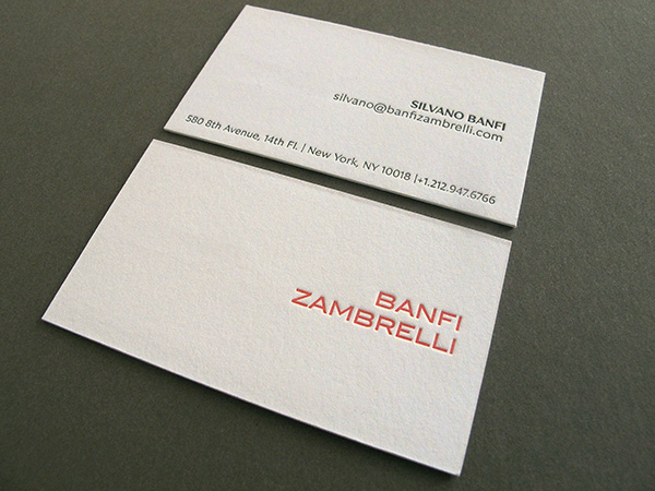 Letterpress Buisness Card