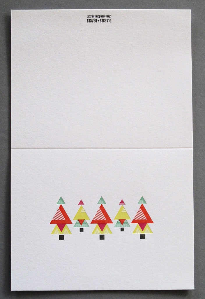 Letterpress Holiday Christmas Card