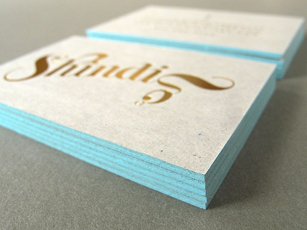 Foil Business Card Edge Painting