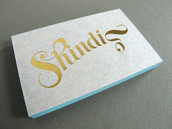 Letterpress Foil Business Card