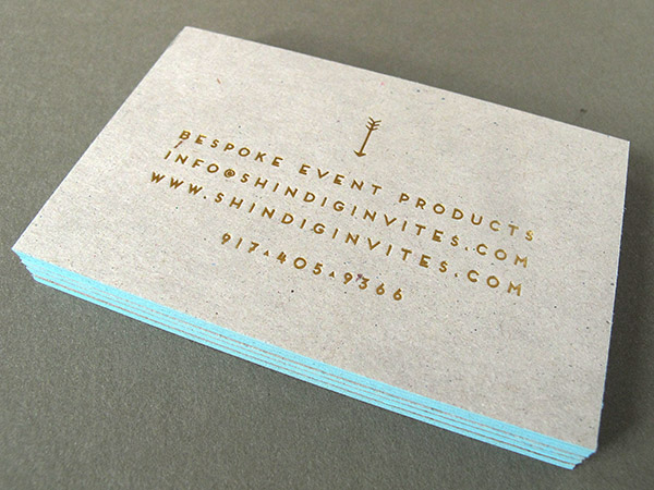 Letterpress Business Card Chipboard