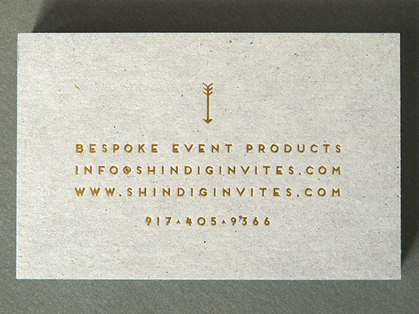 Foil Chipboard Business Card