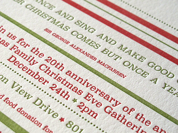 Letterpress Christmas Ornament
