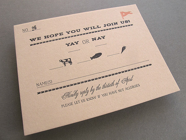 reply card kraft paper