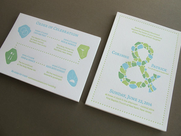 Affordable Letterpress Wedding Invitation