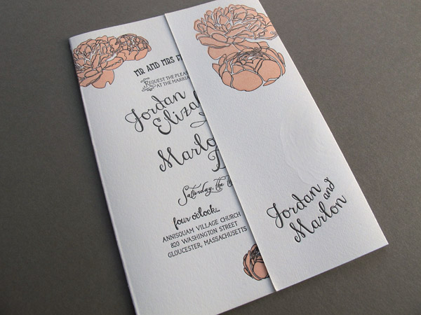 Letterpress Wedding Invitation closed