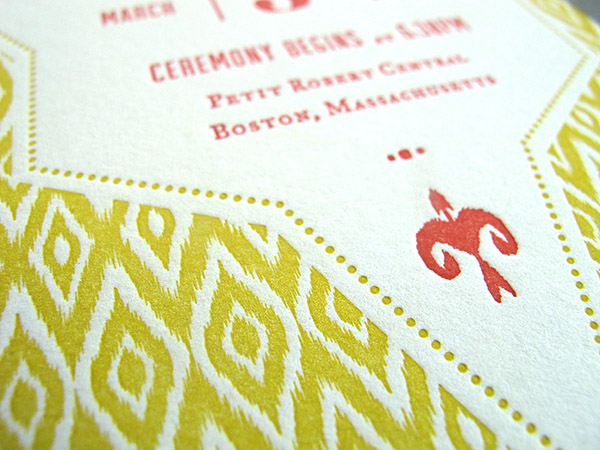 letterpress pattern detail
