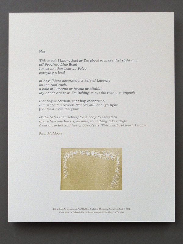 Letterpress Broadside