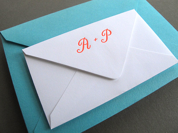 inner and outer envelope with monogram