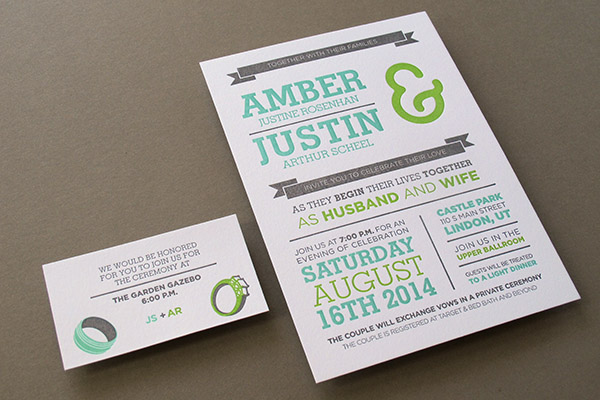 Three-color invitations