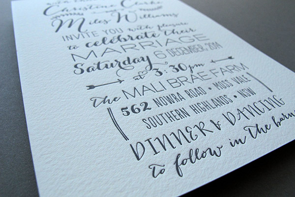 hand-drawn invitation detail