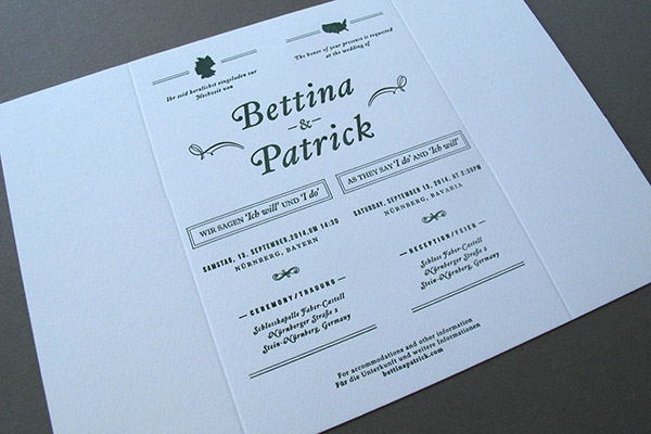 bilingual gatefold wedding invitations  thomasprinters, Wedding invitations
