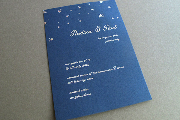 Silver Foil Party Invitation
