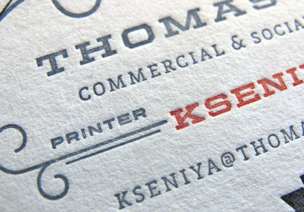 Detail Letterpress Kseniya Thomas