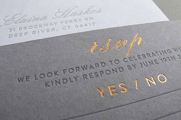 Letterpress Wedding Inviation