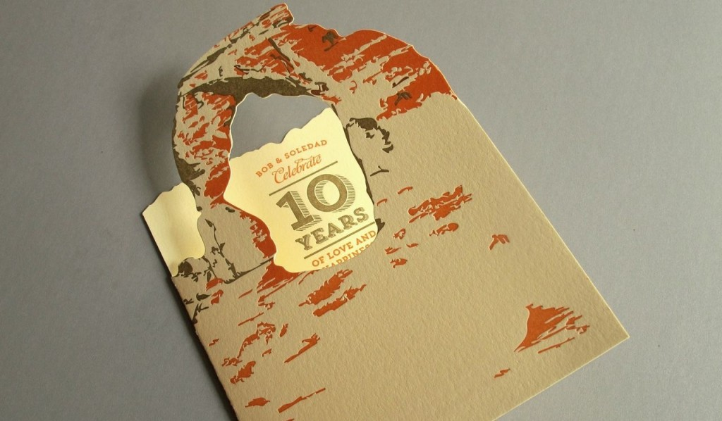 Die-cut invitation