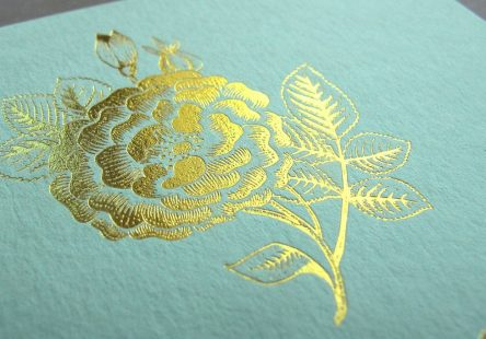 Gold Foil Letterpress Flower
