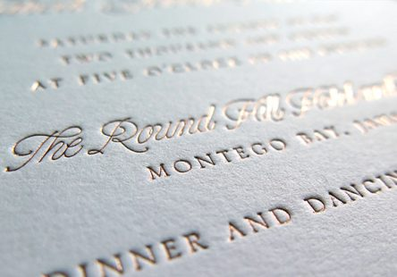 rose gold letterpress