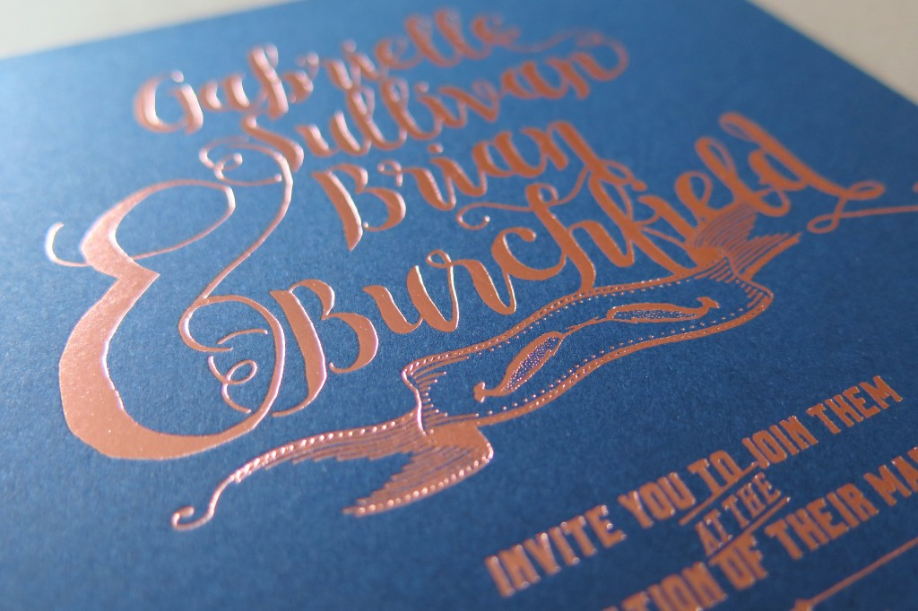 Copper foil navy paper